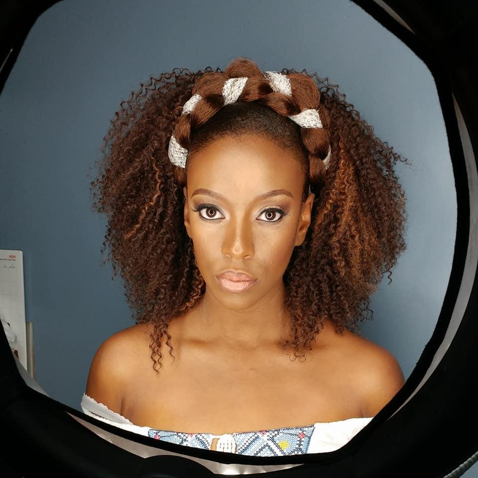 Travis Bernard Douglas Protective Styling Natural Hair Makeup